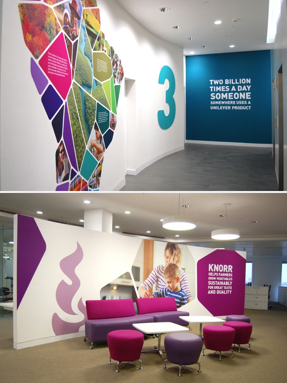 Unilever wall mural graphics digital print media for Digital print mural